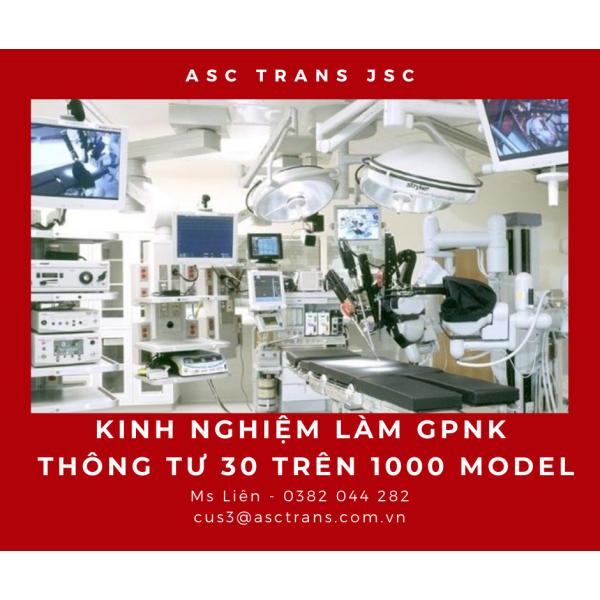 KINH NGHIỆM LÀM GPNK TT30 TRÊN 1000 MODEL