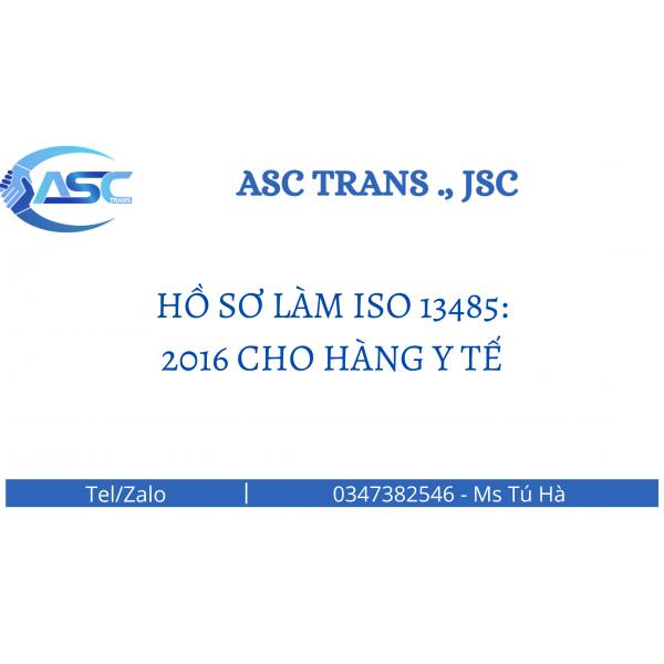 HỒ SƠ LÀM ISO 13485:2016