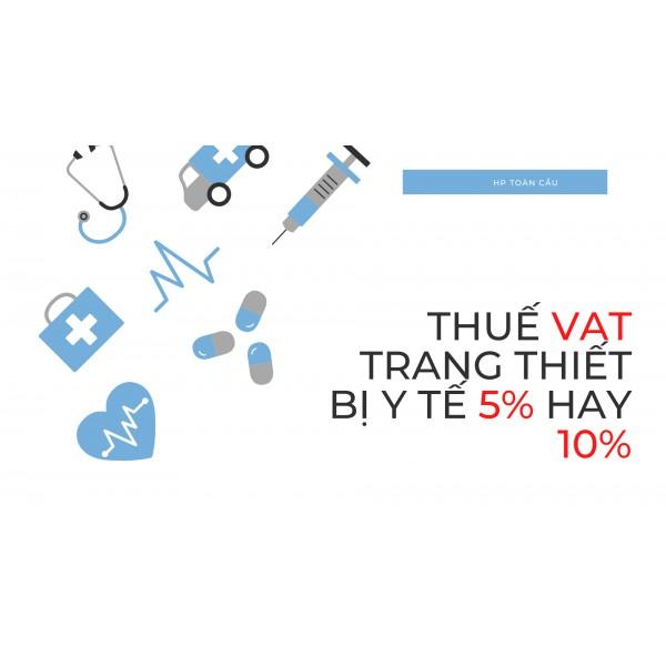Thông tin về thuế nhập khẩu hàng y tế mới nhất