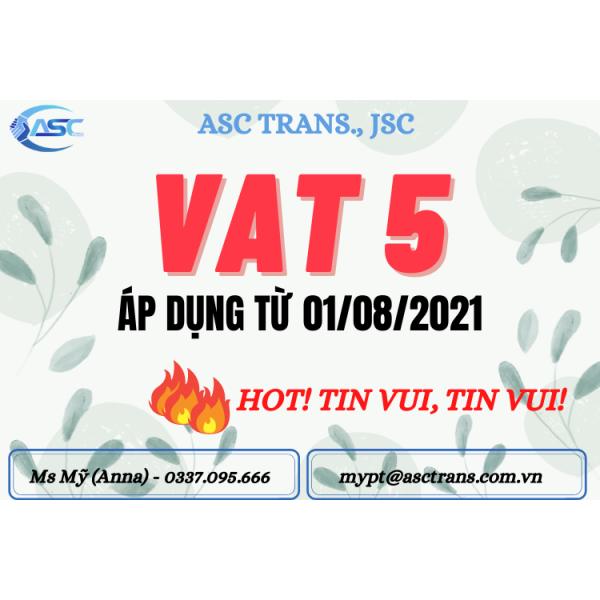 [MỚI] VAT 5% VỚI TTBYT ÁP DỤNG TỪ 01/08/2021