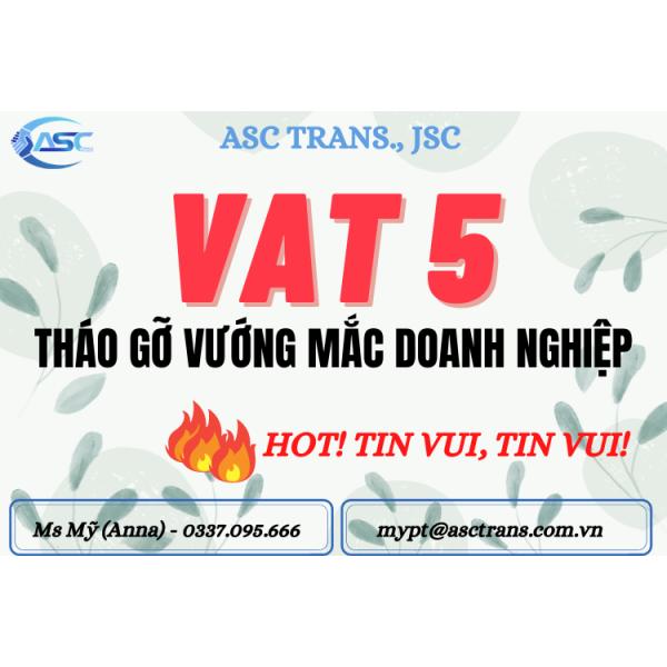 VAT 5% HÀNG TTBYT được áp dụng Từ 01/08/2021